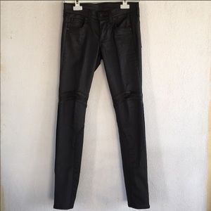 Rag and Bone Leather motto jeans